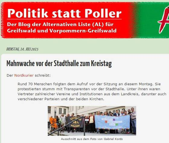 Screenshot vom AL-Blog